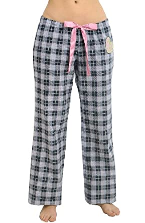 Del Rossa Women's 100% Cotton Flannel Pj Set - Long Pajamas, Small Love Squared (A0509H03SM)