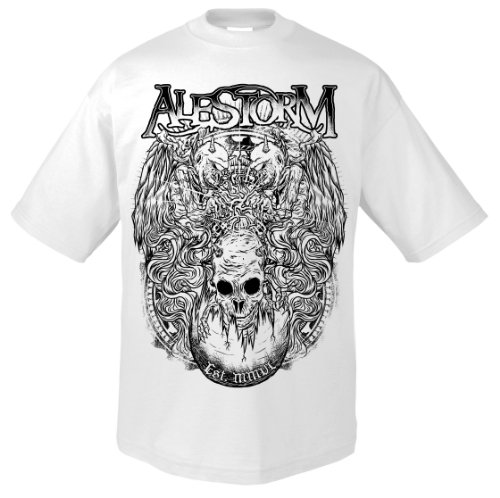Support Music pirateria Alestorm 701961 T-Shirt bianco 52/54