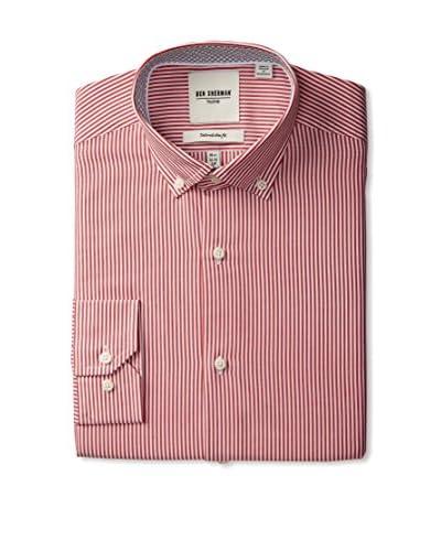 Ben Sherman Men's Thin Stripe Button Down Collar Dress Shirt