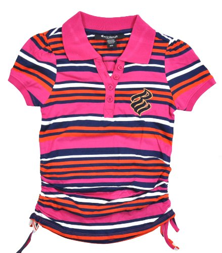 Rocawear Classic Big Girls Berry Jewelry Stripe Polo (8/10)