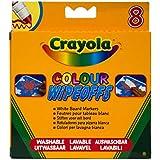 Crayola - Loisir Créatif - 8 Feutres pour tableau blanc lavable (Pointe Large) -Modèle aléatoire