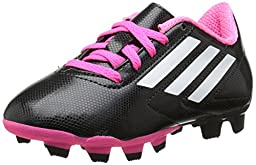 adidas Performance Conquisto Firm-Ground J Soccer Cleat ,Black/White/Solar Pink,10.5 M US Little Kid