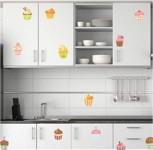 60-second-makeover-limited-wandaufkleber-grafik-abziehbilder-12-x-cupcakes-kinderzimmer-oder-kuchens