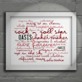 `Zephyr` Art Print - OASIS - Definitely Maybe - Signed & Numbered Limited Edition Typography Wall Art Print - Song Lyrics Mini Poster