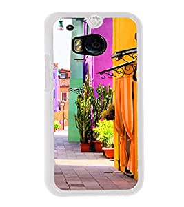 Colourful Street 2D Hard Polycarbonate Designer Back Case Cover for HTC One M8 :: HTC M8 :: HTC One M8 Eye :: HTC One M8 Dual Sim :: HTC One M8s
