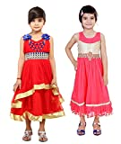Tiny Toon Girl's Gathered Sleeveless Dress (pack of 2)
