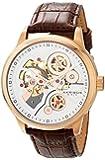 Akribos XXIV Men's AK538BR Mechanical Skeleton Leather Strap Watch