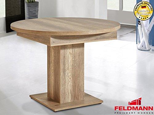 Esstisch 849769 tisch wildeiche dunkel rund ausziehbar for Tisch dunkel