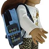 Blue BackPack & Pretend Smart Phone fits 18 Inch Dolls