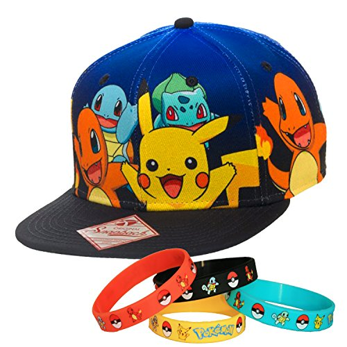 f1bdb96988a Pokemon Team Character Snapback Cap Hat with Bracelet - Buy Online in Oman.