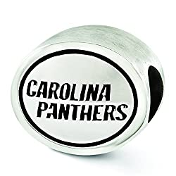 Sterling Silver Antiqued Carolina Panthers NFL Bead Charm