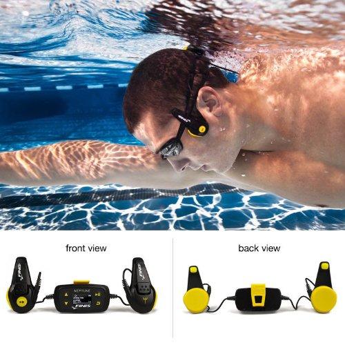 Finis Neptune Underwater Mp3 Player 4Gb 1000 Songs Next Generation Swimp3 New