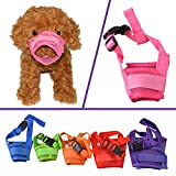 YAMAY® Dog Muzzle Muzzles for Barking Biting Chewing Nylon Mesh Adjustable Velcro for Small Medium Large Big Dogs Pitbulls Pit Bull Anti Bite Chew Bark Lick Able to Drink Breathable Cute