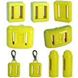 Best Quality Plastic Coated Scuba Divers Lead Weights [3lb - With Snap Clip]