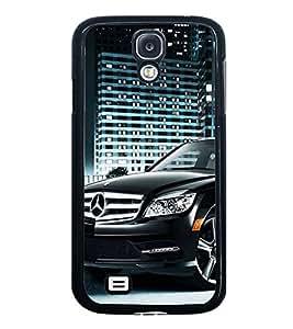 Fuson Premium 2D Back Case Cover Stylish Black car With Multi Background Degined For Samsung Galaxy S4::Samsung Galaxy S4 i9500