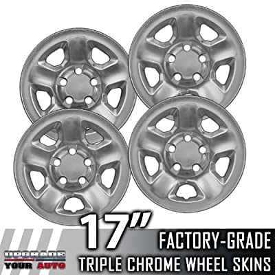 "2002-2008 Dodge Ram 1500 Pickup 17"" Chrome Wheel Skins"
