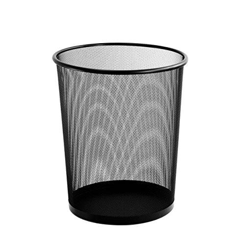 Steel Trash Cans Mesh Waste Basket Bin Storage Garbage Bk