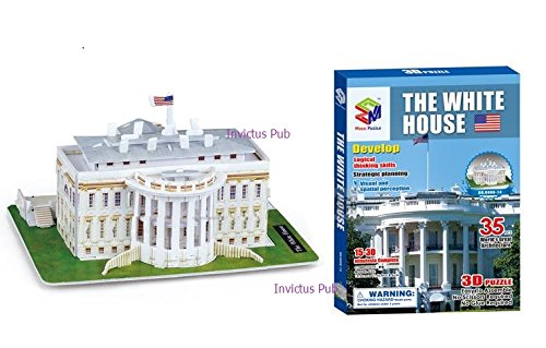 The White House 3d Puzzle,35 Pcs (White House)