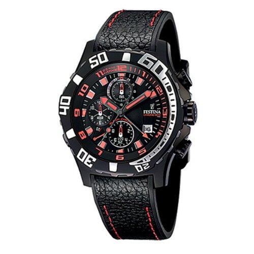 Festina F16289/7 - Reloj cronógrafo de cuarzo para hombre con correa de piel, color negro