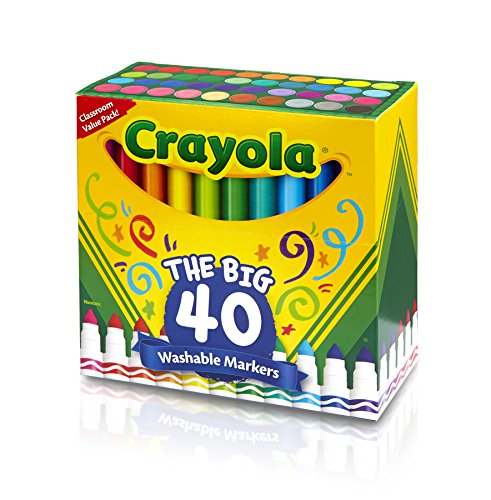 Crayola Ultra-Clean Washable Markers, 40-Count