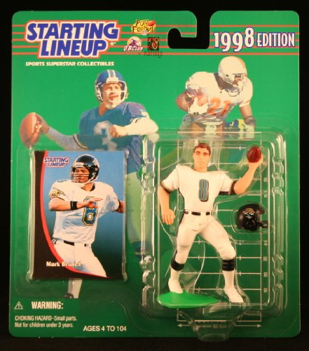 MARK BRUNELL / JACKSONVILLE JAGUARS 1998 NFL Starting Lineup Action Figure & Exclusive NFL Collector Trading Card - 1