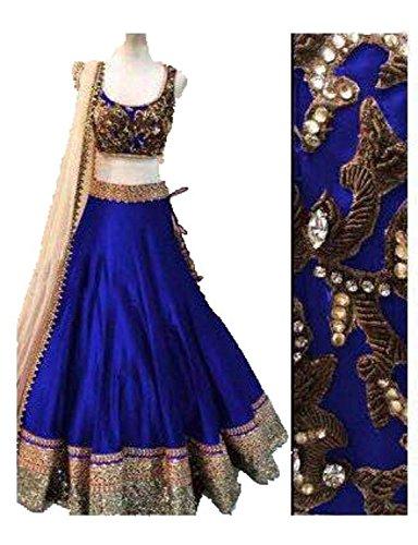 Sky-GLobal-Navy-Blue-Benglori-Silk-Embroidered-Lehenga-Choli-Lehnga161Free-SizeNavy-blue