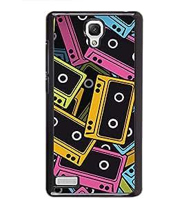printtech Pop Cassettes Music Back Case Cover for Xiaomi Redmi Note::Xiaomi Redmi Note 4G