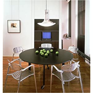 Knoll D'Urso Round Table Dining Series D'Urso Round Dining Table with Toledo Stacking Chairs