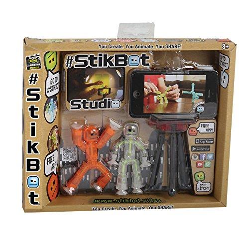 Stikbot - 32880.012 - Studio d'Animation - 2 figurines et 1 Trépied pour Smartphone