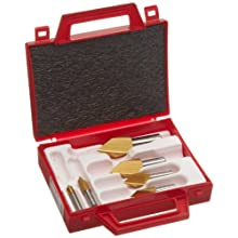 Magafor S4822 Series Cobalt Steel Single-End Countersink Set, TiN Coating, Single Flute, 60 Degrees, Round Shank