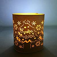Magideal 10 White Candle Decoration Paper Tea Light Holder Party Christmas Snowflake