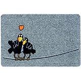 Fußmatten Flocky Trend Raben grau-41 40x60cm