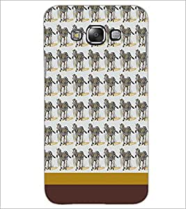PrintDhaba Zebra pattern D-1808 Back Case Cover for SAMSUNG GALAXY A7 (Multi-Coloured)