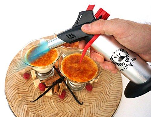 Chalumeau de cuisine professionel avec double flame - Petit chalumeau cuisine ...