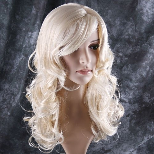 docooler Stylish long curl blonde hair wig Party Perruque