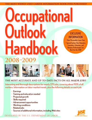 Occupational Outlook Handbook: 2008-2009 (Occupational Outlook Handbook (Jist Works))