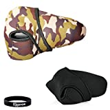 Eggsnow Camouflage Neoprene Sleeves Protection Bag for DSLR Camera Nikon D90/ D700/ D7100/ D5100/ D7000/ D5200 Canon 600D/ 650D/ 700D/ 1100D/ 550D Pentax K-30/ K5