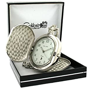 Colibri Pocket Watch Hunting Case with Chain Model #PWQ092008C