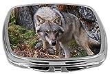 Rikki Knight Compact Mirror, Wolf