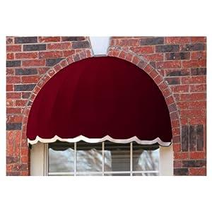 Awntech Beauty-Mark Bostonian 3' Window/Entry Awning, Burgundy by Awntech