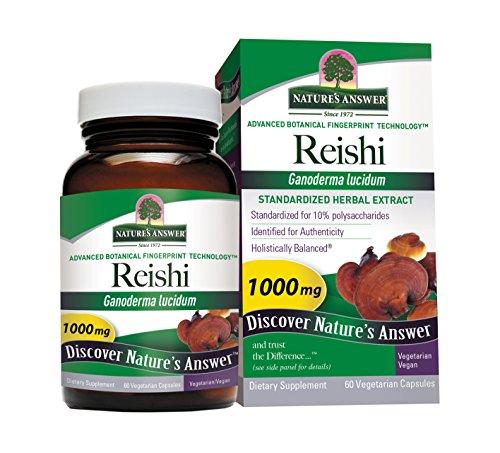 Nature'S Answer Reishi Mushroom Standardized, 60-Count