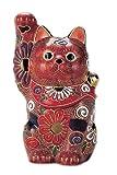 九谷焼 招き猫 盛 4号 (右手) N76-14