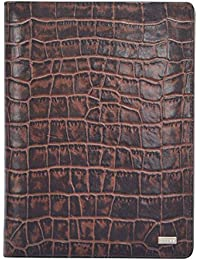 Cross Men's Genuine Leather Planner With A5 NotePad And CROSS Agenda Pen - Brown / Taupe