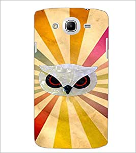 PrintDhaba Owl Face D-3953 Back Case Cover for SAMSUNG GALAXY MEGA 5.8 (Multi-Coloured)