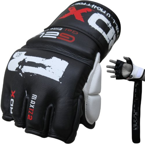 RDX Cow Hide Leather 7oz Grappling Gloves MMA,UFC,Boxing,Cage NHB, Medium