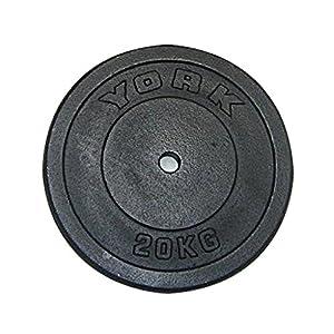 York 15kg Standard Cast Iron Disc, 1 x 15kg