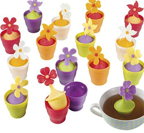 Brandani infusore fiore in silicone colorato petali for Attrezzi cucina in silicone