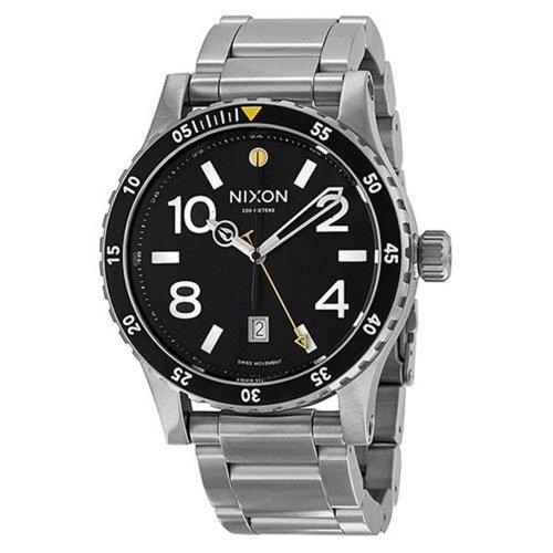 New Watch! Nixon Diplomat SS A277 Black | Metal | Black Dial | Date | 45mm | 200M | NEW 100% New