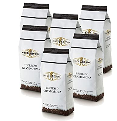 Miscela D'oro Grand Aroma Whole Beans 6-2.2 Pound Bags - The Best Espresso