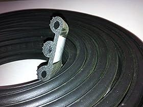 """Super Cap Seal XL 20 FT (2 1/8"""" Width x 1/2"""" Height x 20' Length) EPDM Rubber"""